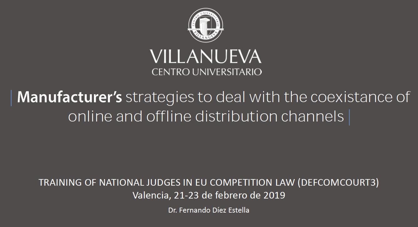 manufacturer's strategies and online offline distribution