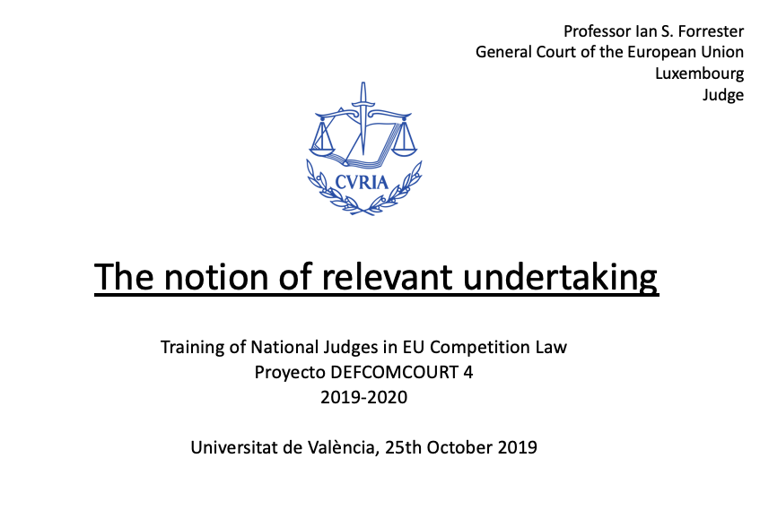 the notion of relevant undertaking