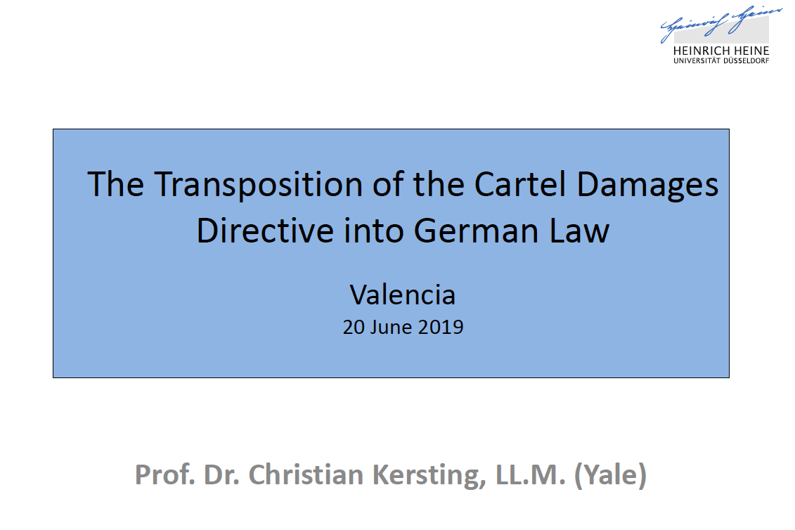 transposition damages directive into german law